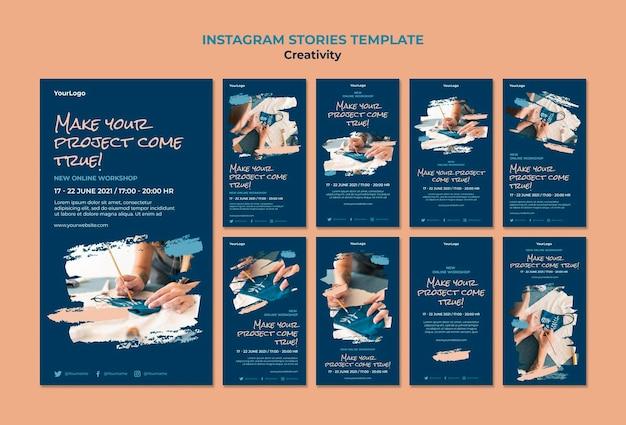 Creativity workshop instagram stories