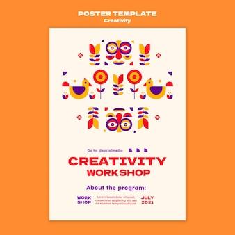 Modello di poster del laboratorio di creatività