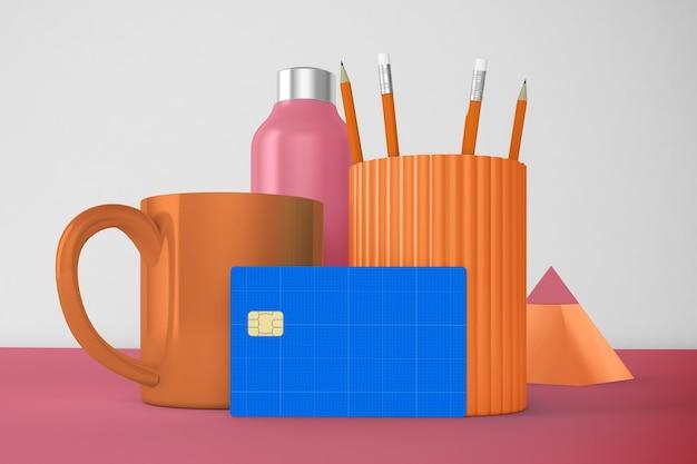 Макет кредитной карты для рабочего стола