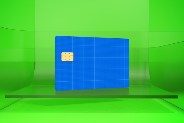 Credit card on glass