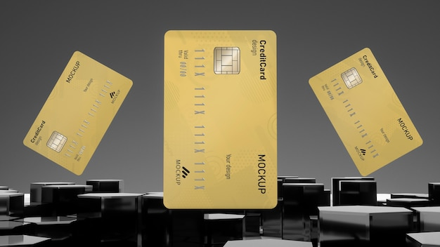 Carta di credito mock up