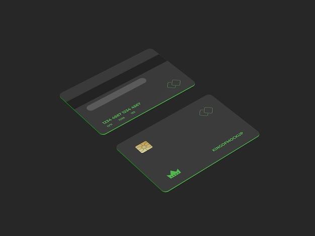 3dレンダリングでのクレジットカードのモックアップデザイン