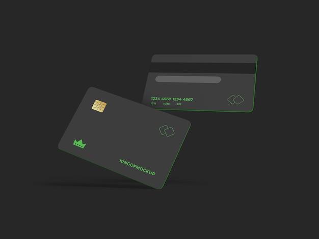 Дизайн макета кредитной карты в 3d-рендеринге