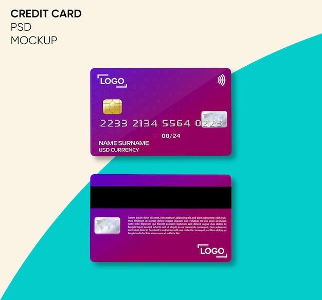 Credit card mockup design