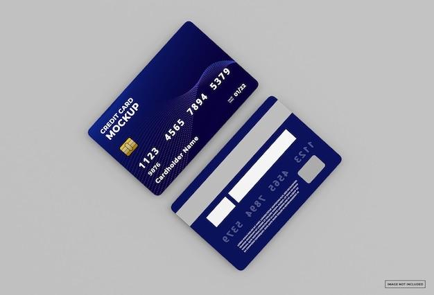 Изолированные макет кредитной карты