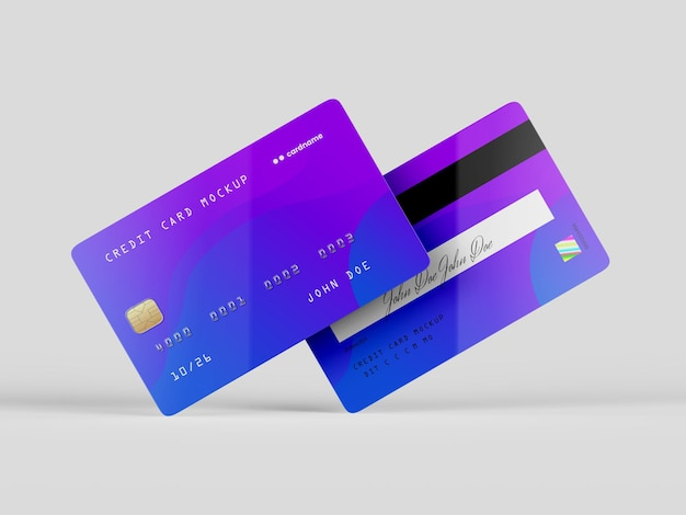 Credit card mockup template
