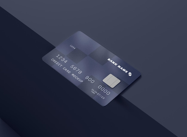 Макет кредитной карты Premium Psd