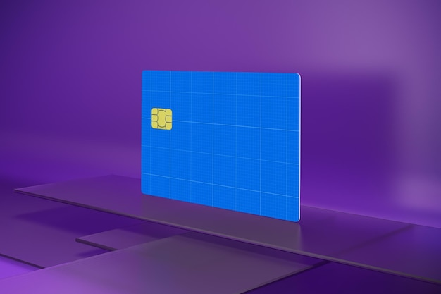 Кредитная карта на стекле Premium Psd