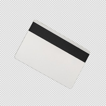 Credit card over white background