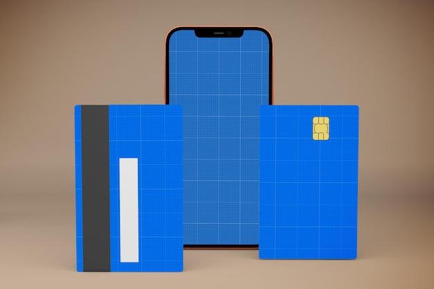 Credit card smartphone mockup