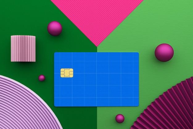 Кредитная карта, вид сверху