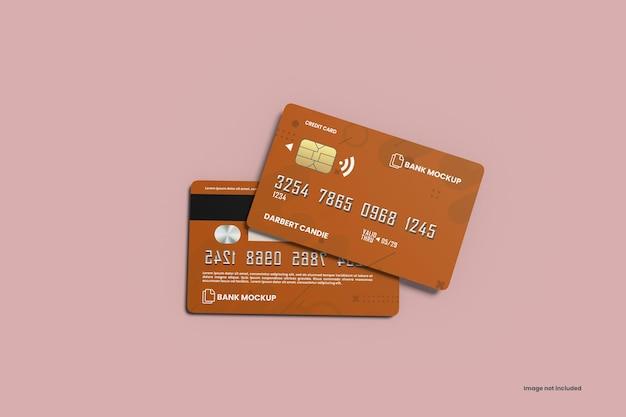 Мокап кредитных карт
