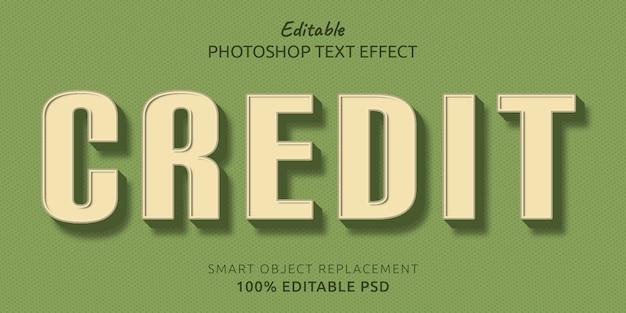 Кредитный редактируемый текстовый эффект