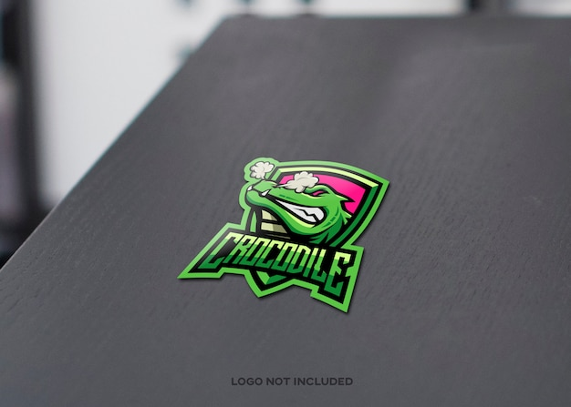 Crocodile logo mockup
