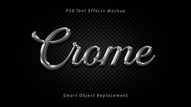 Crome 3d text effects