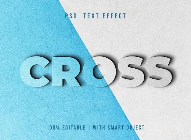 Текстовый эффект cross psd