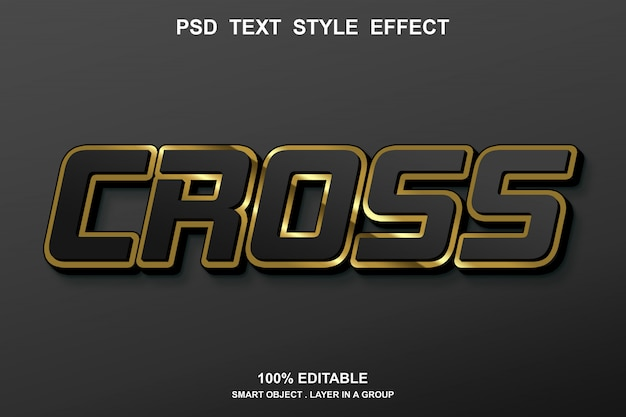 Cross text effect