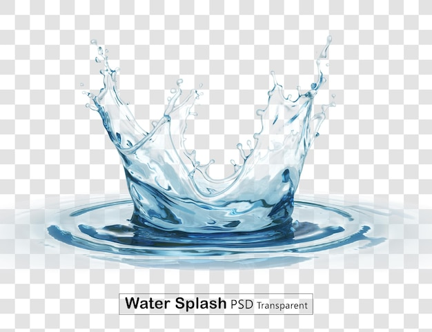 Crown water splash transparent isolated