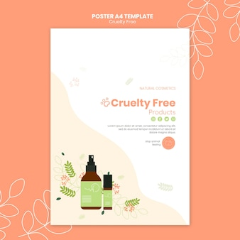 Cruelty free products poster template
