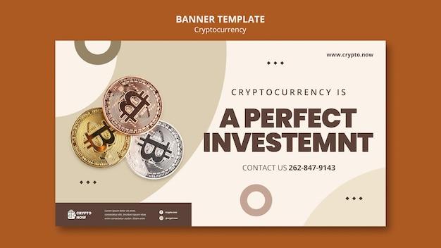 Modello di banner di investimento in criptovaluta