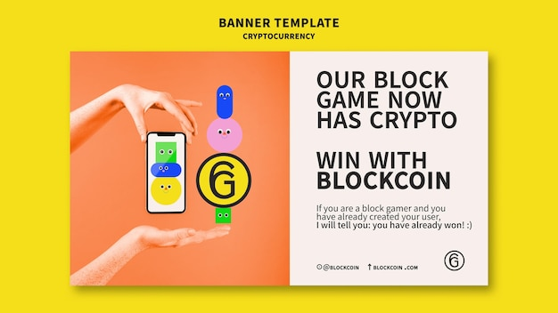 Cryptocurrency banner template design