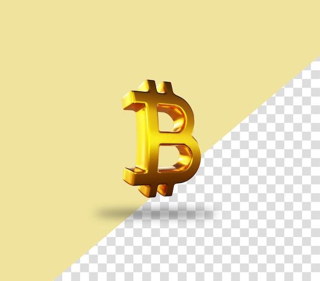 Криптовалюта битовая монета золотая монета значок рендеринга