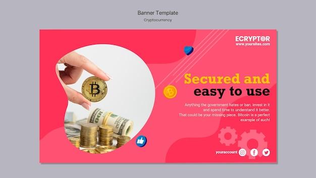 バナーの暗号通貨デザインテンプレート