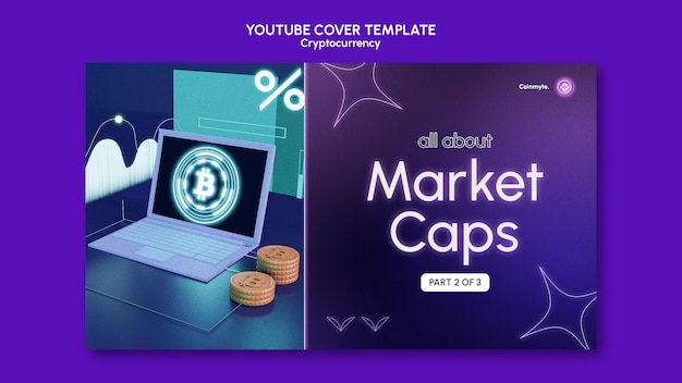 Cryptocurrency design template of youtube template