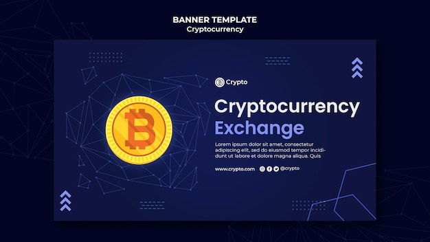 Cryptocurrency exchange banner template