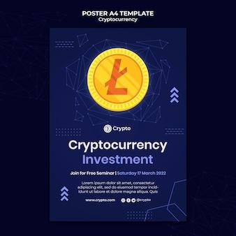 Modello di poster per gli investimenti in criptovaluta