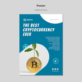 Cryptocurrency poster template