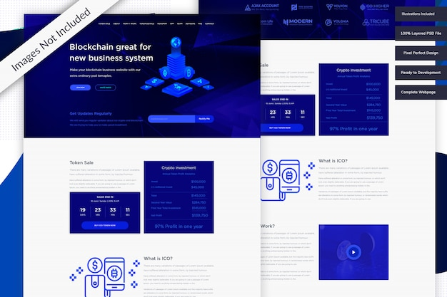 Cryptocurrency website template free download
