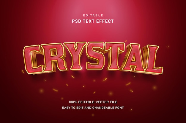 Шаблон текстового эффекта кристалла