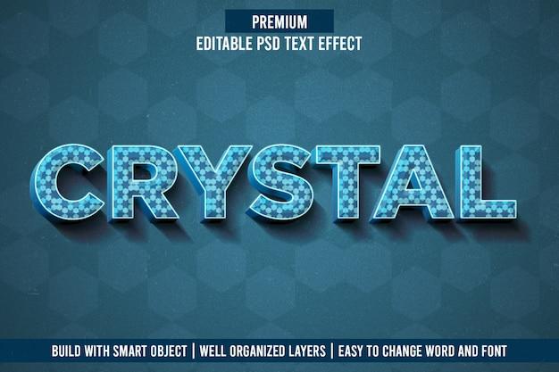 Текстовый эффект crystar
