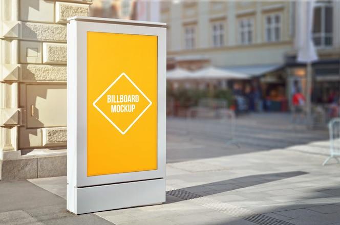 광고, psoter, 광고판을 전시하는 cty 가로등 광고 모형