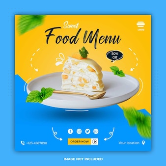 Culinary food banner social media templates post