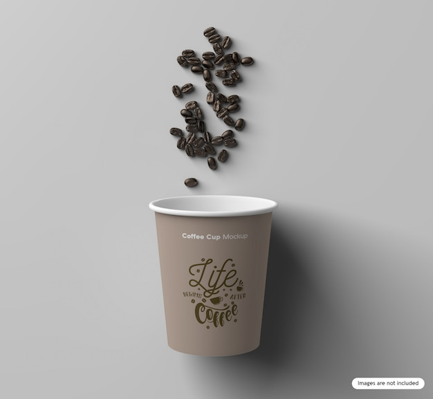Cup & beans mockup