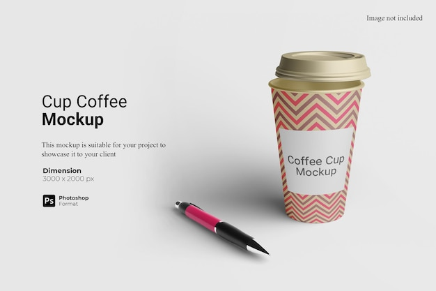 Cup coffee mockup design isolated