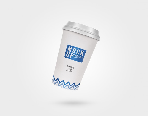 컵 종이 플라스틱 뚜껑 이랑 현실