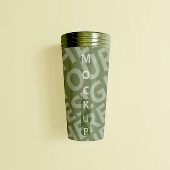 編集可能な色のカップ タンブラー モックアップ デザイン