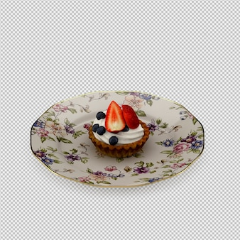 Cupcake 3d isolated render