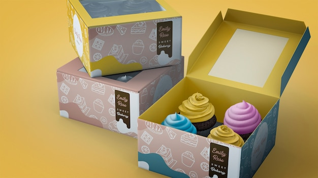컵케익 브랜딩 모형