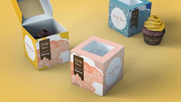 컵 케이크 포장 및 브랜딩 모형