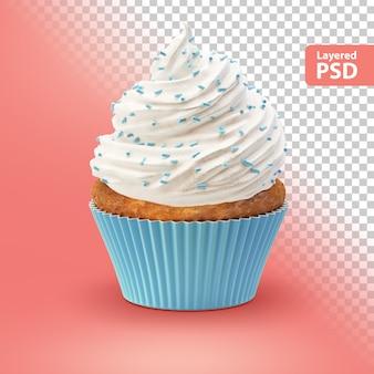 白いクリームのカップケーキ