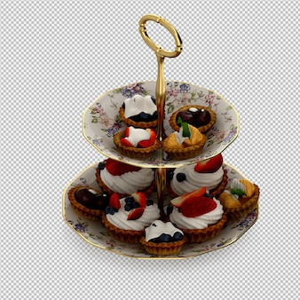 Cupcakes 3d isolated render