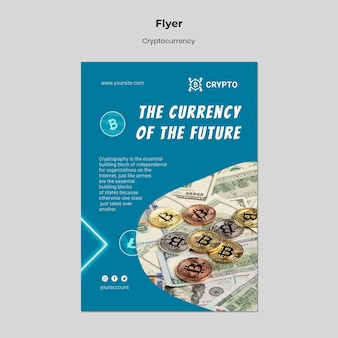 将来のチラシテンプレートの通貨