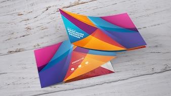 Curved brochure mockup