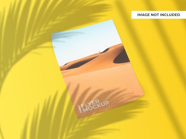 Curved flyer or brochure mockup design
