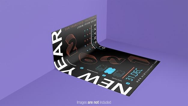 Изогнутый макет плаката изолированные