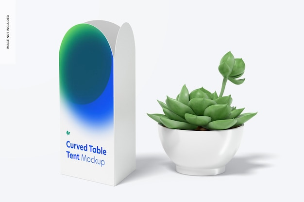 곡선 탑 테이블 텐트 모형